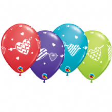 Love Balloons (Banner Hearts) - 11 Inch Balloons 25pcs